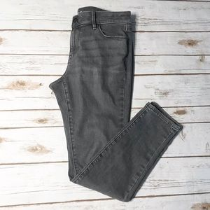 LOFT Gray Curvy Skinny Jeans 6P Petite